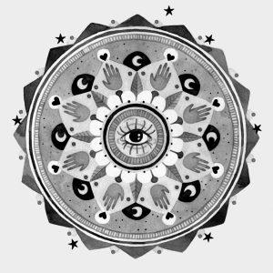 Mandala en tinta de Ester Laguna